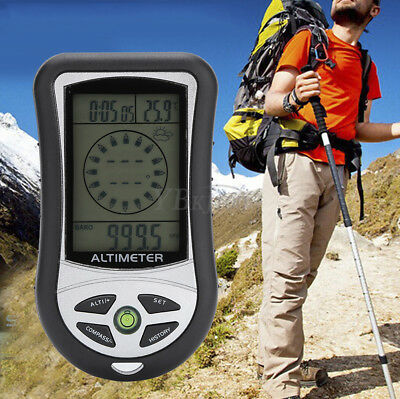 8In1 Digital LCD Compass Altimeter Barometer Thermometer Calendar Clock Weather