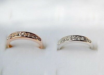 NEW Silver Gold Crystal Ring Band Wrap Rings Women Jewelry Vintage Fashion Gift