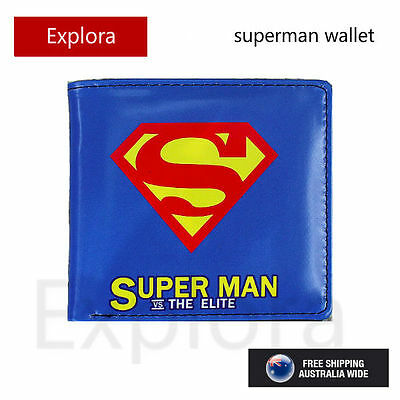 Boys Girls Kids Teenage Biofold PU Leather Wallet -- Superman Logo