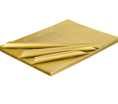 """Metallic Gold 10 Sheets Acid Free Tissue Wrapping Paper 450mm x 700mm 18"""" x 28"""""""