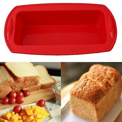 New Non-stick Silicone Toast Bread Cake Baking Mold Loaf Tin Bakeware Pan Mould