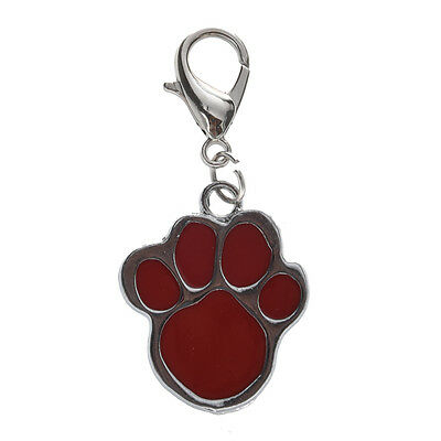 Cute Stainless Steel Foot Print Engraved Puppy Pet Dog Cat ID Name Tags BF