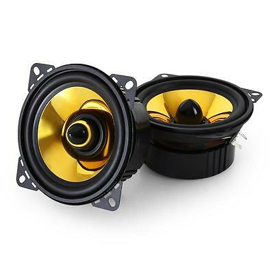 "Hifi Speakers 4"" Auna Custom Gold Style In Car Stereo Sound Set 800 Watt Max"
