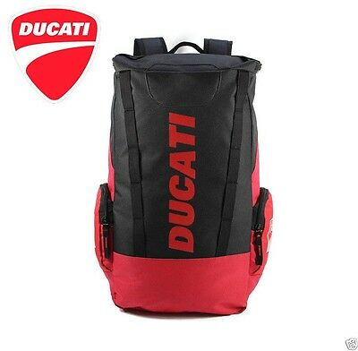 NEW 2017 DUCATI CORSE Motorcycle Rucksack Backpack Racing Outdoors Red Black HOT