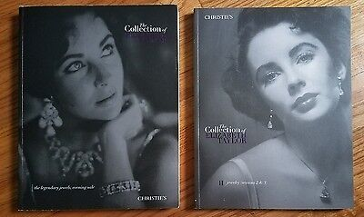 Christie's The Collection of Elizabeth Taylor Jewelry Catalogs  Vol 1 and Vol 2