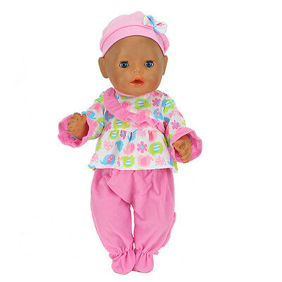 Colorful warm jumpsuit+hat Wearfor 43cm Baby Born zapf (only sell clothes)