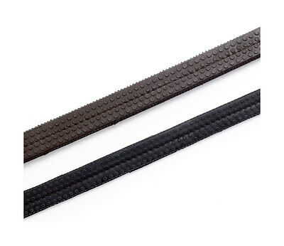 HY Rubber Grip Reins - Leather and Rubber - Black, Brown, Full (5/8) or Pony 1/2