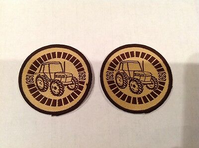 Leyland Marshall Tractors Patch Farm Decal Sign - New Old Stock