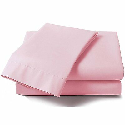 Just Contempo Plain Percale Fitted Sheet - King, Pink