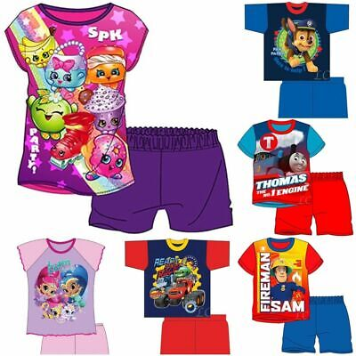 Childrens Pyjamas Shorts Shortie Girls Boys Official Licensed Disney Jammies Pjs