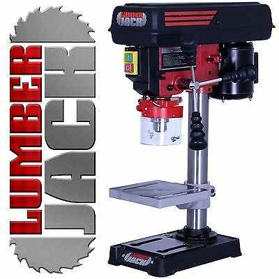 Lumberjack Pillar Bench Drill Press Rotary Table Stand 13mm Chuck 5 Speed 240v