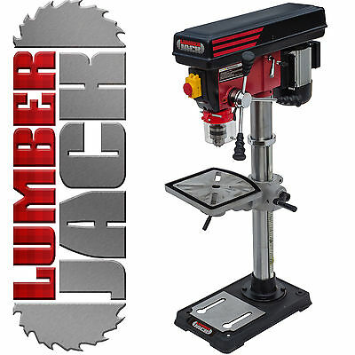 Lumberjack Pillar Bench Drill Press Rotary Table Stand 16mm Chuck 12 Speed 230v