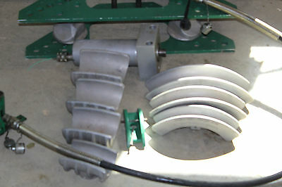 GREENLEE 777 HC755 PIPE bender 1 1/4 to 4 inch with 755 pump, tested works great