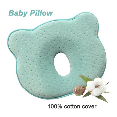 SMELOV Toddler Memory Foam Pillow Baby Head Positioner,Prevent Flat Head for 0 M