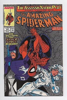Marvel Comics The Amazing Spider-man #321 Paladin & Silver Sable App Copper Age