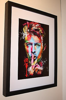 David Bowie Rare Psychedelic Art Work Quality Photo A4 Box Framed 16X12 Rock Pop