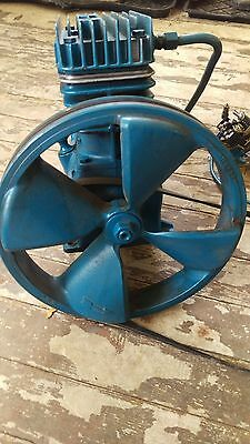 Quincy 2 Stage Air Compressor Pump And Switch, Pullys And Belt