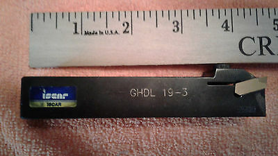 "Iscar 3/4"" Square Shank Turning, Parting, & Grooving Holder Ghdl 19-3 W/insert"