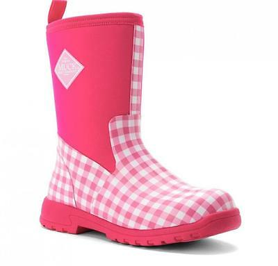 Kids Muck Pink Breezy Mid Insulated Rain Snow Boots 12-13 Youth 1,2,3,4,5,6,7