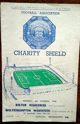 Bolton V Wolves 6/10/1958 Charity Shield