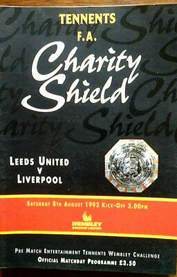 Leeds V Liverpool 8/8/1992 Charity Shield