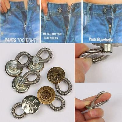 Perfect Fit Button Add an Inch to Jeans Pants Waist In Seconds 6pcs Set Hot LH