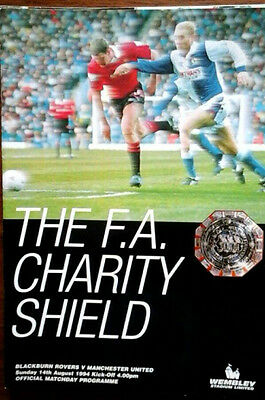 Blackburn V Man Utd 14/8/1994 Charity Shield