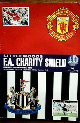 Man Utd V Newcastle 11/8/1996 Charity Shield
