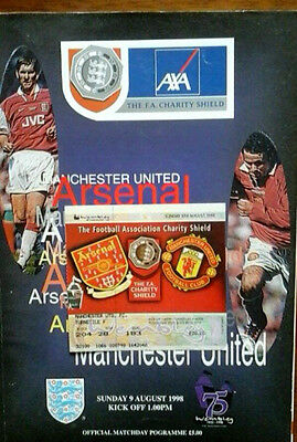 Man Utd V Arsenal 9/8/1998 Charity Shield + Ticket