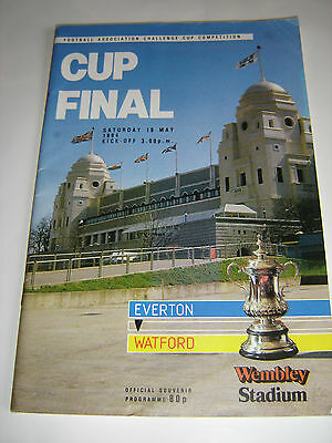 Everton  V Watford Football Programme - Fa Cup Final - 1984