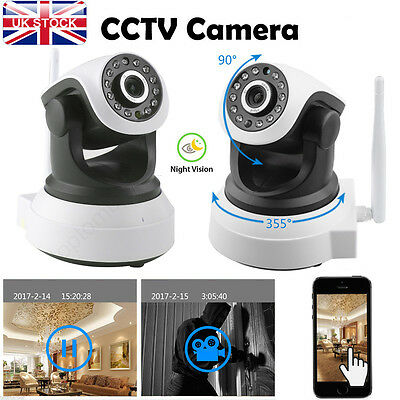 Indoor CCTV IR-CUT UK HD 720P Wireless WIFI IP Camera Security Night Vision CAM