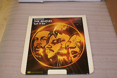 Vintage The Beatles Let it Be RCA United Artists CED Selectavision Video Disc