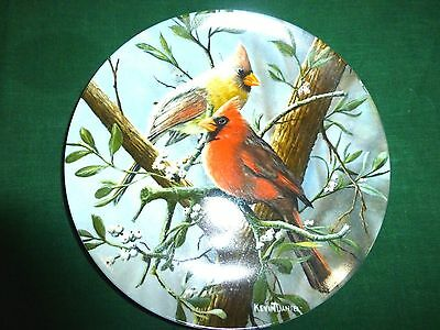Knowles Plate Red Cardinal Kevin Daniel Birds of Your Garden Collection
