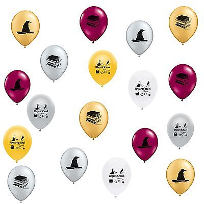 Wizard School Harry Potter Theme Latex Balloons 18 count MADE IN USA