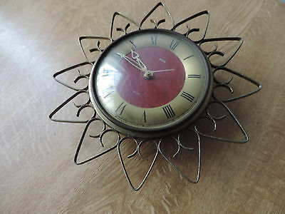 Antique Vintage Art Deco Smiths Sectric Sunburst Clock