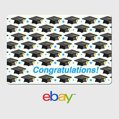 eBay Digital Gift Card - Graduation Caps -  Email Delivery