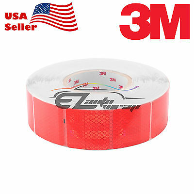 """3M Diamond Grade Red Conspicuity Tape 2"""" x 2"""" CE Approved Reflective Safety"""