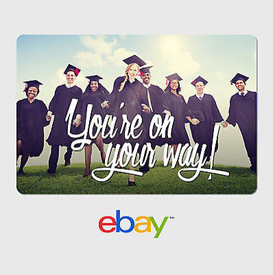 eBay Digital Gift Card - Graduation New Day You're on your way - Email Delivery