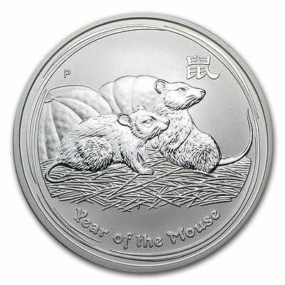 2008 Perth Mint 1oz Silver Lunar Year of the Mouse Rat Bullion Coin