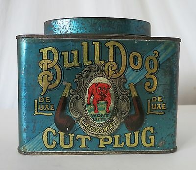 Bulldog Cut Plug Tobacco Antique Tin, Lovell & Buffington, Covington, Ky