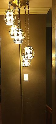Vintage Mid Century/ Hollywood Regency Tension Pole Floor Hanging LAMP