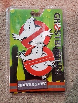 GHOSTBUSTER 16GB USB ERASER COMBO keychain 2016 NEW sealed