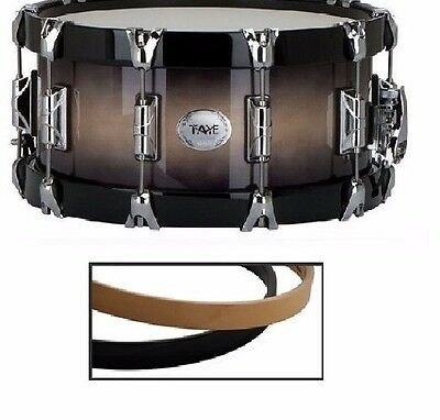 "Taye Drums Wood Hoop Upgrade Package In Piano Black Finish For 6"" Snare Drums"