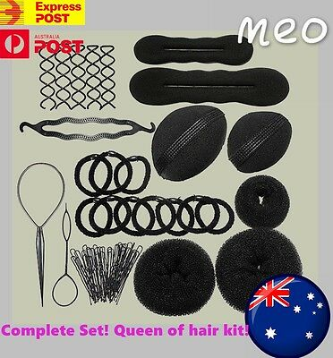 Hairstyling Tool Kit Hair Set Beauty Saloon Nobbi Volume Pull Hair Pin U-Clip