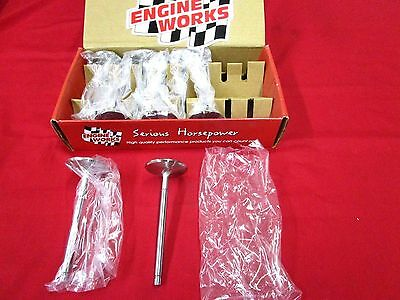 New E-W Xtreem Duty 160215 Stainless Intake Valves 2.150-11/32 Stem,blue Thunder