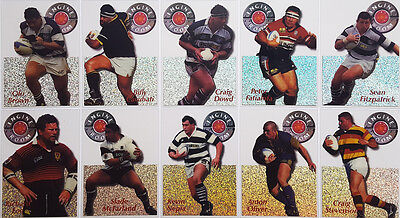 1996 NZ Rugby NPC Engine Room Acetate Cards Subset (10)