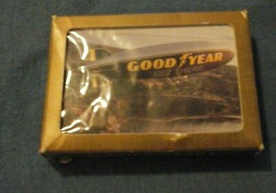 vintage goodyear tire blimp playing cards by gameco