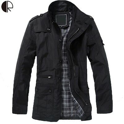 New Arrival 2016 Fashion Trench Coat Men's Jacket Winter Warm