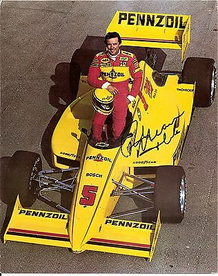1988 RICK MEARS signed PRE INDIANAPOLIS 500 HERO PHOTO CARD PENNZOIL INDY CAR wC