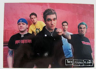 New Found Glory Album Photo Retro Vintage Art Print Music Rock Band Postcard